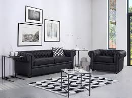 Czarne sofy